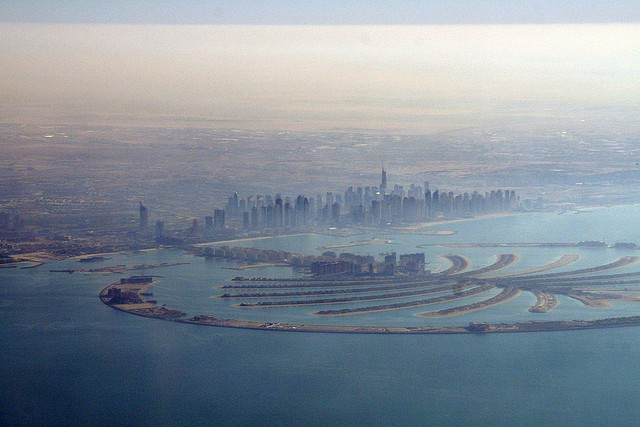 Jumeirah Palm from the air by Nico Crisafulli on Flickr