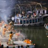 Ceremony on the Ghats in Varanasi by Chris, on Flickr