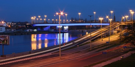 Szczecin, Wały Chrobrego at Night by Seweryn Niemiec, on Flickr